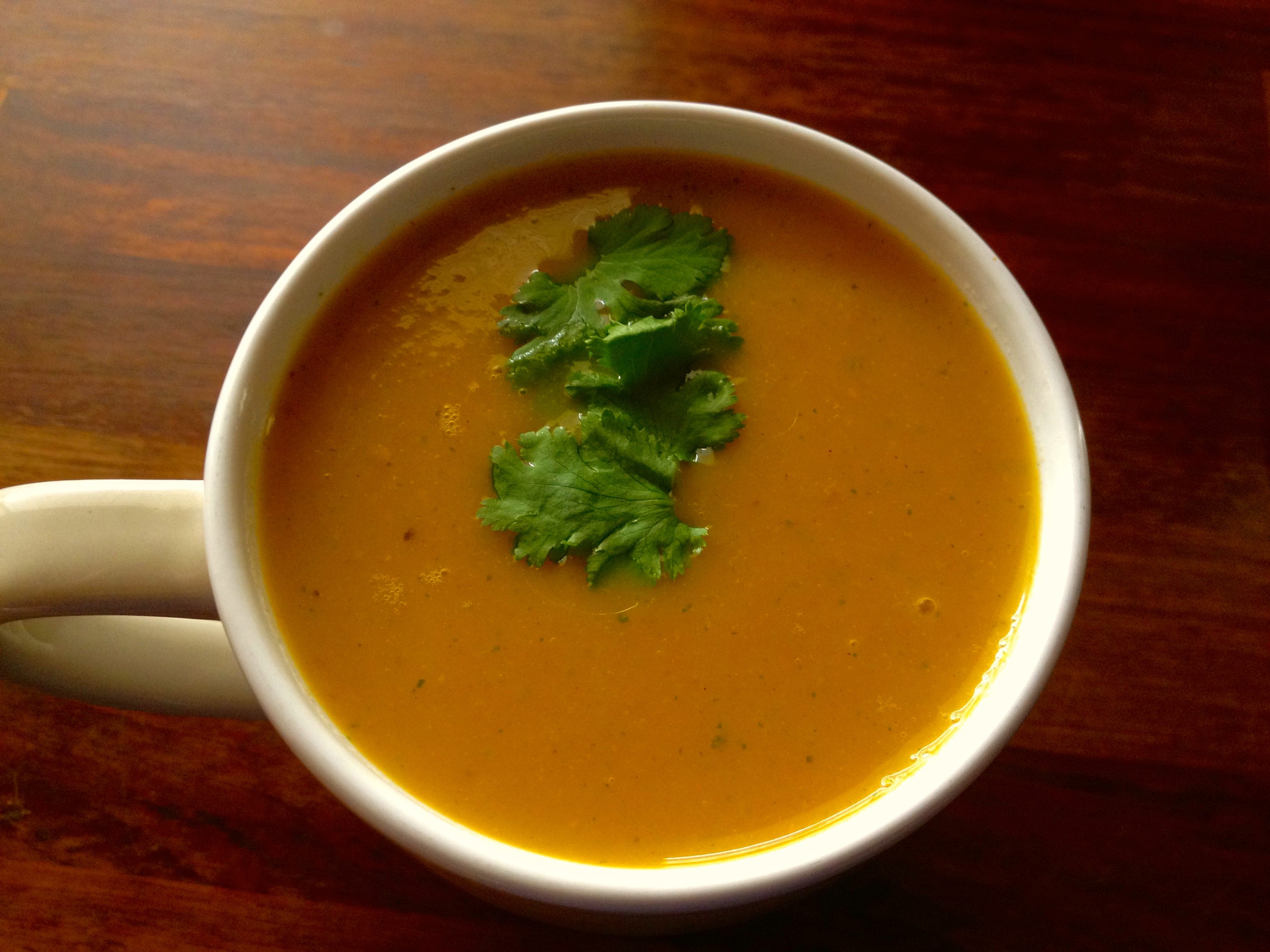 carrot and coriander soup in morphy richards soup maker